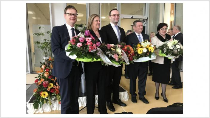 Foto v.l.n.r. Dr. Thomas Gebhart, Sabine Weiss, Jens Spahn, Hermann Gröhe, Ingrid Fischbach