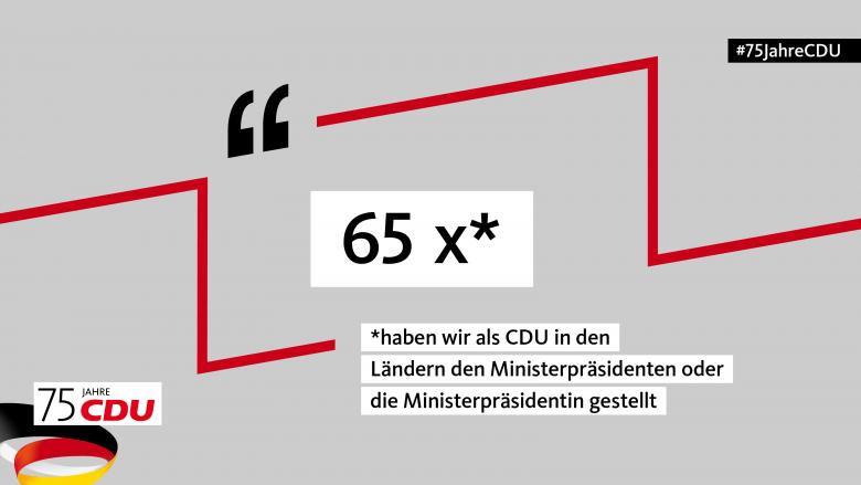 65 MinisterpräsidentInnen