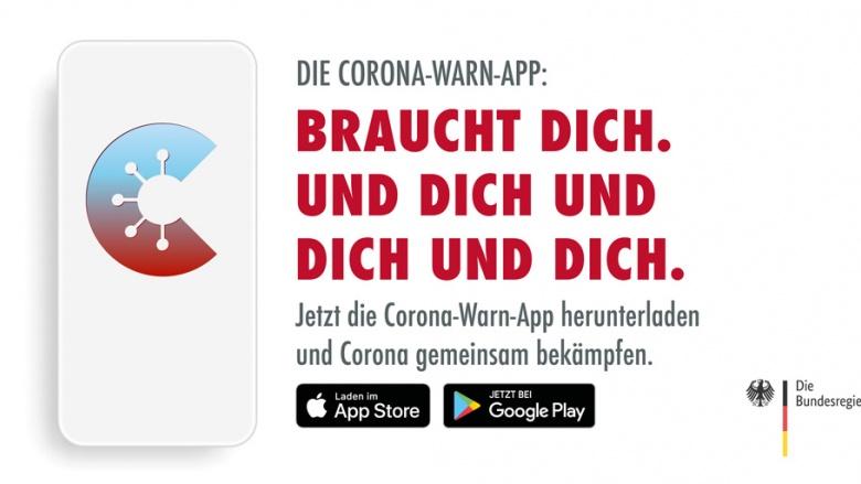 Corona-Warn-App - Braucht dich. Und dich und dich und dich.
