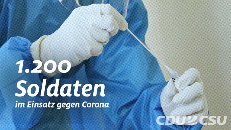 1.200 Soldatinnen und Soldaten im Einsatz gegen Corona