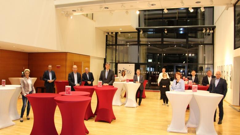 Die Abgeordneten der Landesgruppen Rheinland-Pfalz und Saarland mit dem Fraktionsvorsitzenden, Ralph Brinkhaus MdB