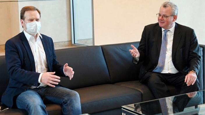 Frank Schwabe (links) und Andreas Nick leiten die Delegation des Bundestages zur Parlamentarischen Versammlung des Europarates.